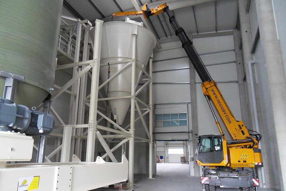 industrial mixers installation