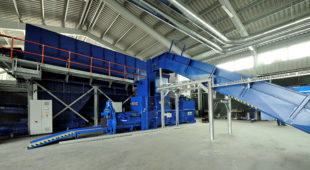 Sorting plant for municipal solid waste