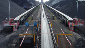 belt conveyor to coal storage field