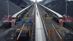 belt conveyor to coal storage field