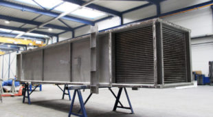 heat exchanger with gas drying