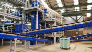 glass recycling plant