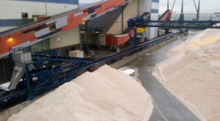 salt production facility conveyor
