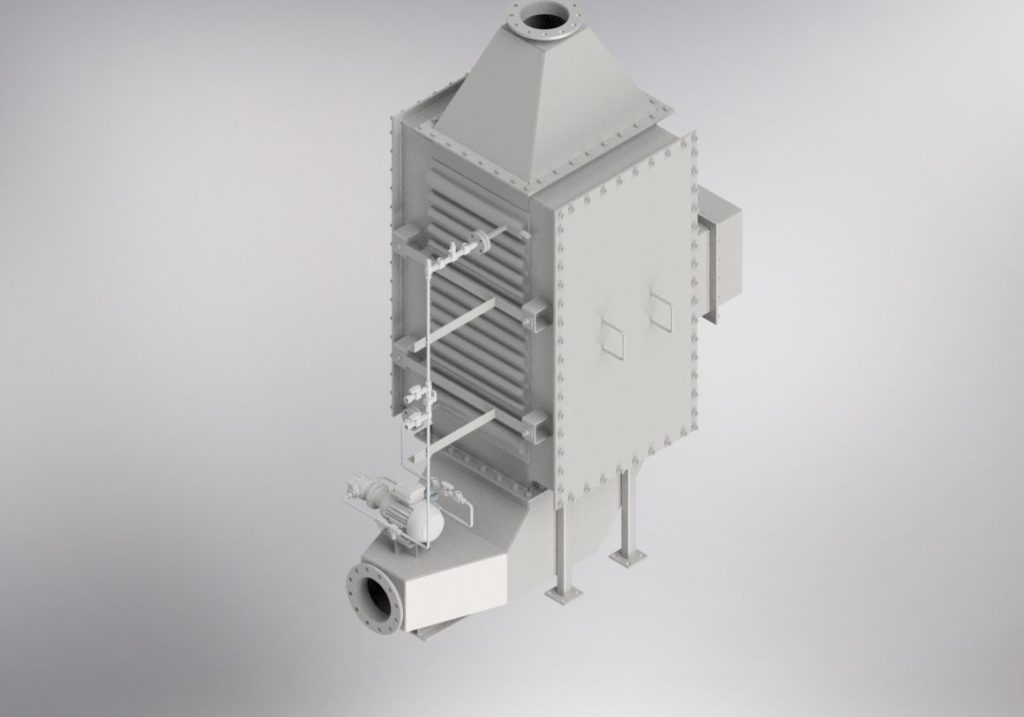ECconomizer biomass boiler 3D model