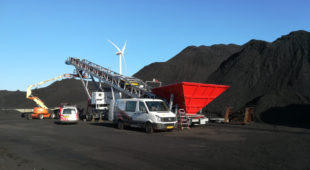 MOBILE STACKER CONVEYOR FOR STEEL PRODUCTION PLANT